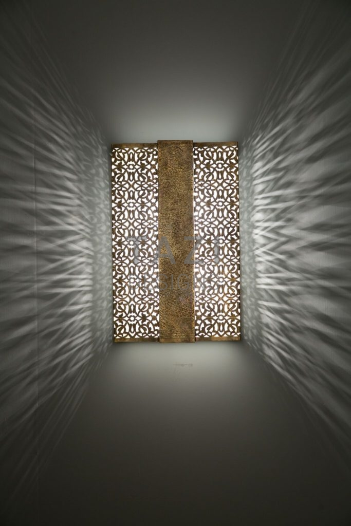 Ashima Contemporary Moroccan Wall Sconce  Tazi Designs
