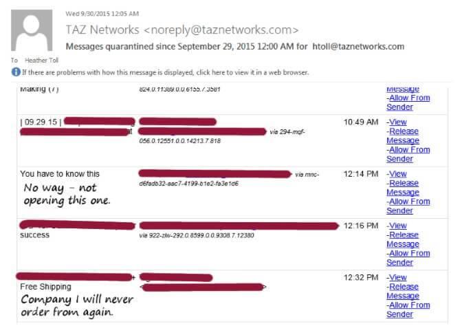 Email Care screengrab