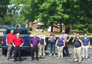 TAZ Networks staff enjoying the eclipse