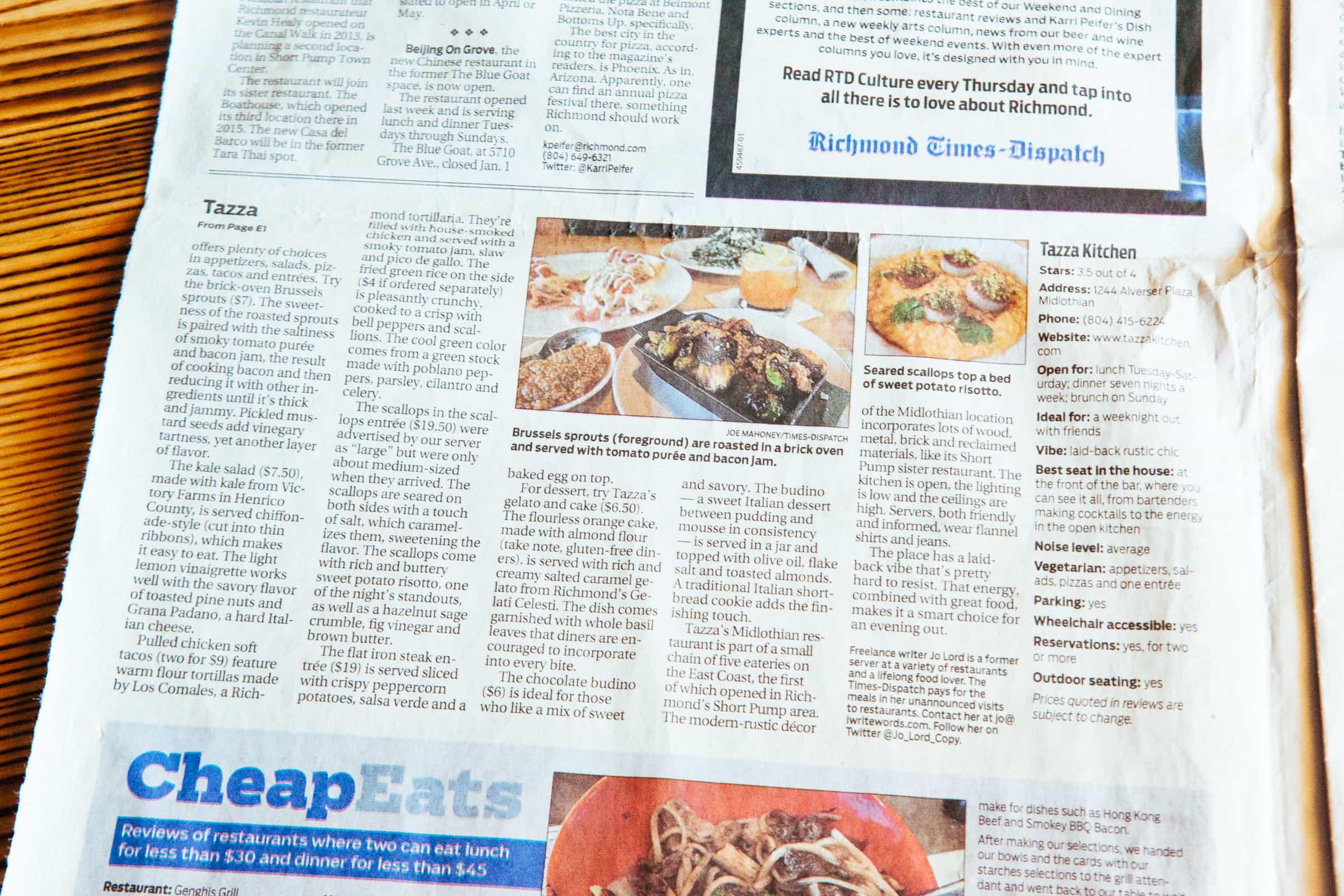 Richmond Times-Dispatch / Restaurant review: Internationally ...