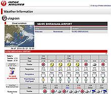 JAL Weather Information