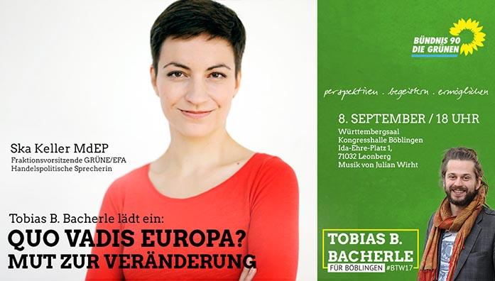 Quo Vadis Europa? Mit Ska Keller in Böblingen