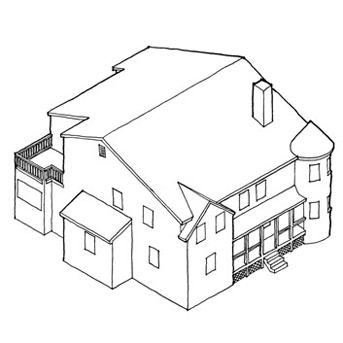 Isometric Drawing House