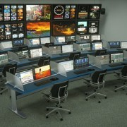 Curved NOC SmartTrac with acrylic privacy panels