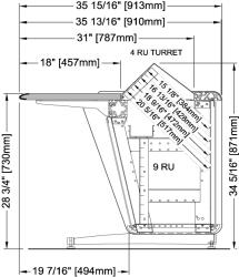 CTL Series Base Frame with Optional Rack Rail