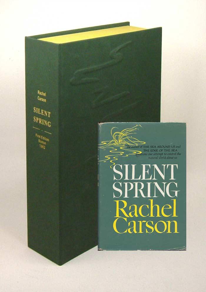 SILENT SPRINGCustom Collectors Sculpted Clamshell Case  Rachel L Carson  1st Edition
