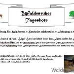 Der Waldesruher Tagesbote – die Regionalzeitung für Waldesruh