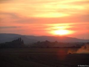 Unterwegs in der Natur - Sonnenuntergang am NSG Teufelsmauer