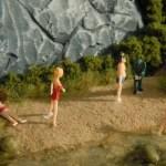 Badende – Modellbahnfiguren