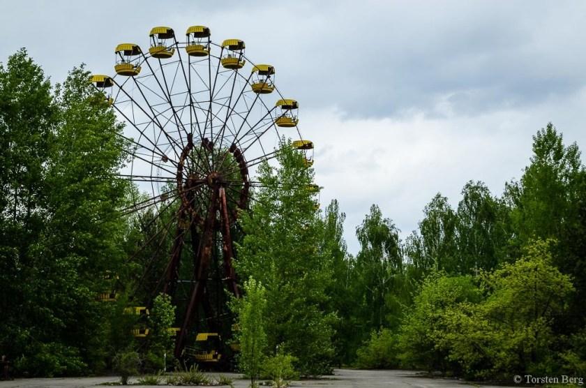 In der Tschernobylzone: das Riesenrad von Pripjat