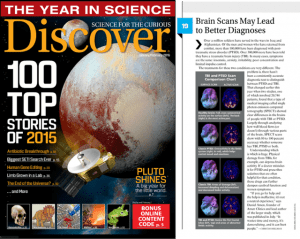 Dr. Theodore Henderson, along with a team of researchers led by Dr. Daniel G. Amen, were recognized by Discover Magazine for having one of top Discoveries of the year.