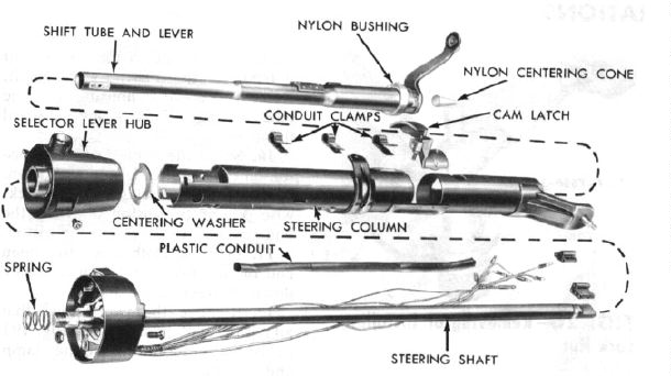 1965 Ford thunderbird steering column
