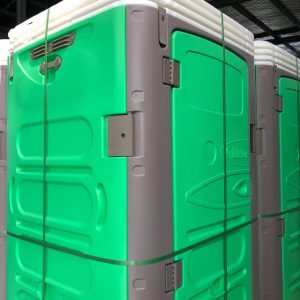 Green Rapidloo demountable portable toilet
