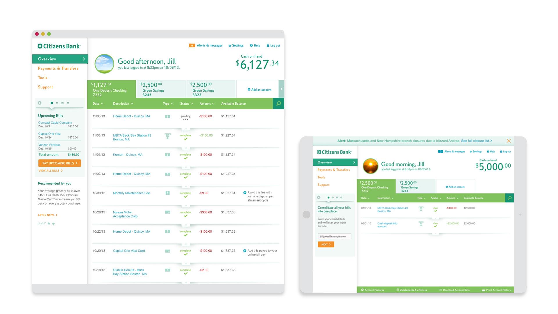 Portfolio Citizens Bank Online Banking