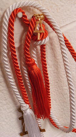 New honor cord with fob and Bent charm.