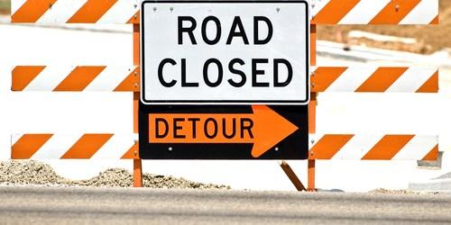 Road Closed   Road Constuction Traffic