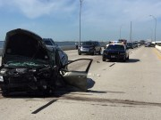 Three Injured in 10-Car Pileup on Howard Frankland Bridge