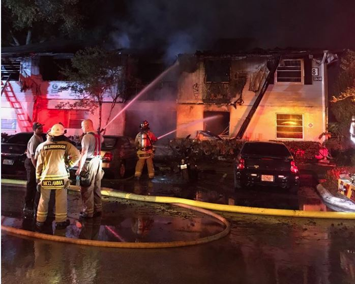Eight condos damaged in overnight fire; families displaced
