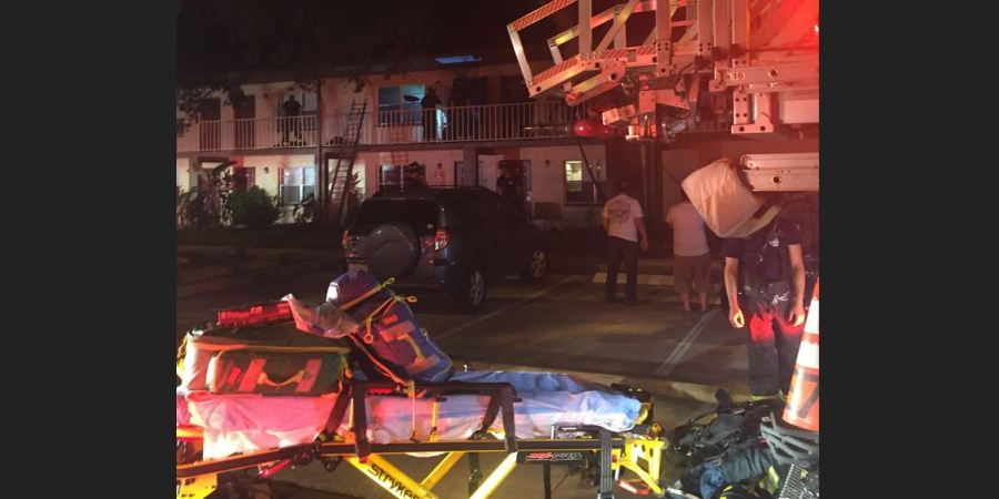 Gandy Apartment Fire | St Pete Fire Rescue | Woman Injured