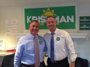 Former Governor Campaigns for Kriseman