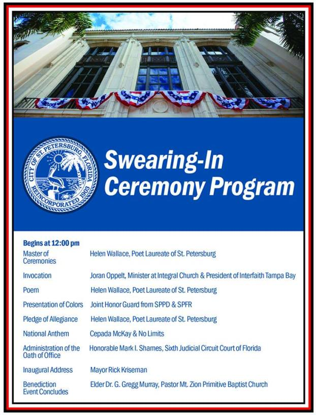 Swearing in Program | St. Petersburg | Politics
