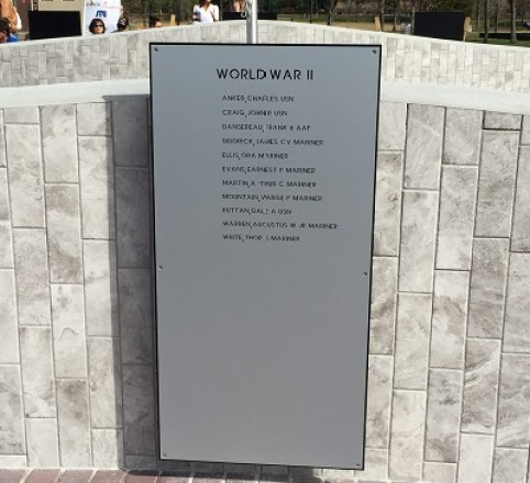 Veterans Memorial | Dell Holmes Park | TB Reporter