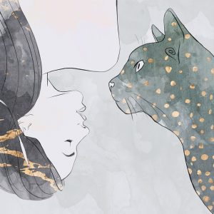 Woman | Cat | Pets and Animals