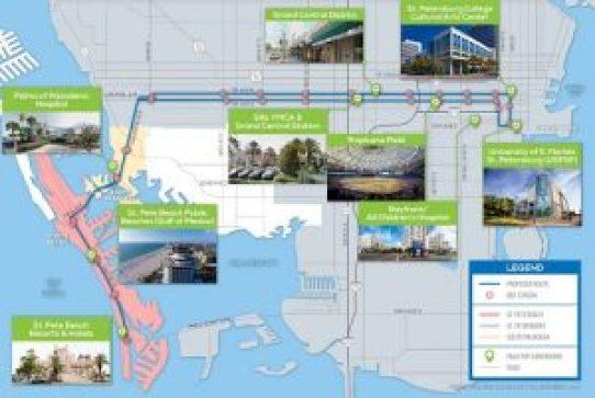 Centrral Avenue BRT | PSTA | Map