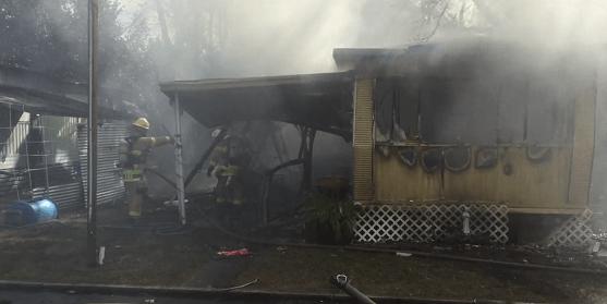 Mobile home fire | Tampa fire Rescue | Fire