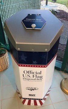 Flag Disposal Box | Hernando Sheriff | U.S. Flag