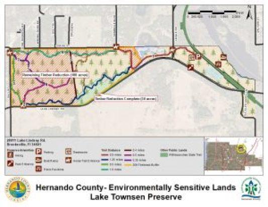 Lake Townsen Map   Hernando County   Habitat Restoration