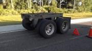Axle Comes Off Semi on I-75