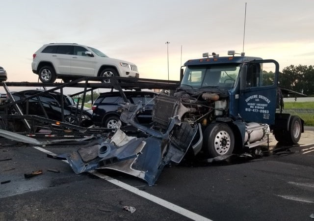 Tractor-Trailer Crash Shuts Down section of I-4 For Hours
