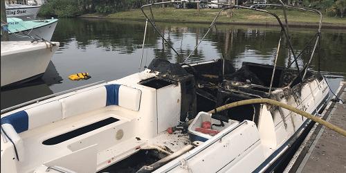 Boat Fire   Hernando Fire   TB Reporter