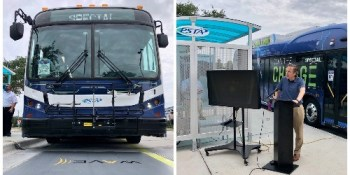 Electric Bus Charging Plate | PSTA | Transportation