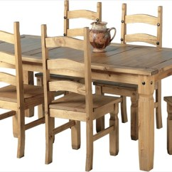 Table And 6 Chairs Cheap 2 Corona Distressed Waxed Pine 339 00 Tbs