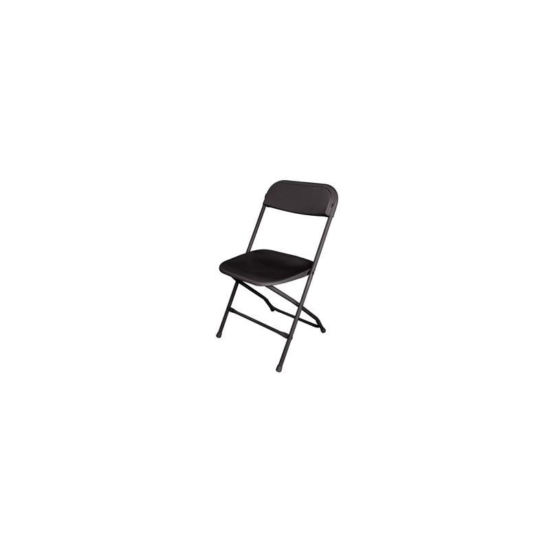 chaises pliantes noires ou blanches pour receptions conferences mariages et buffets
