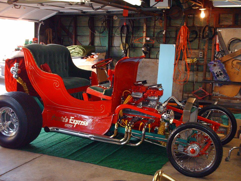 Hot Rod Santa And How He Built His T Bucket Sleigh