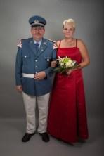 Kompaniekönig Olaf Boll mit seiner Königin Marina Kaduk