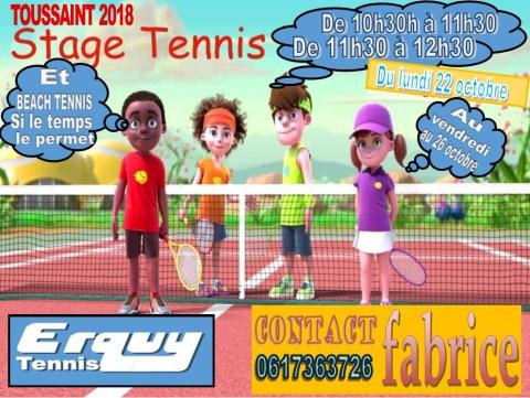 stage de tennis pour la toussaint 2018