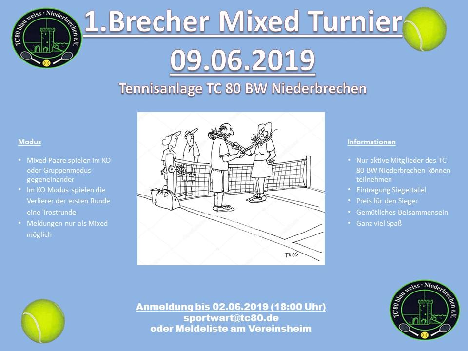 1. Brecher Mixed Turnier