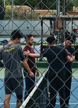 TCA Tenis Pros during a fundraiser.