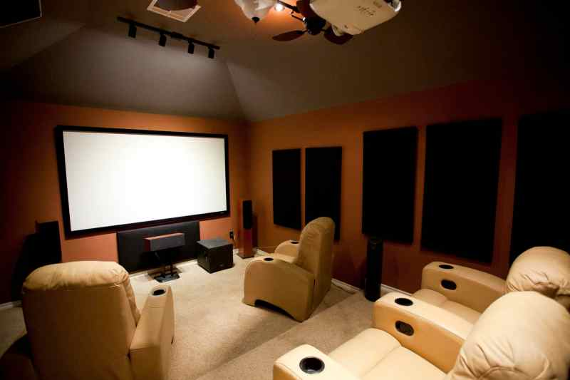 Home theatre after installation