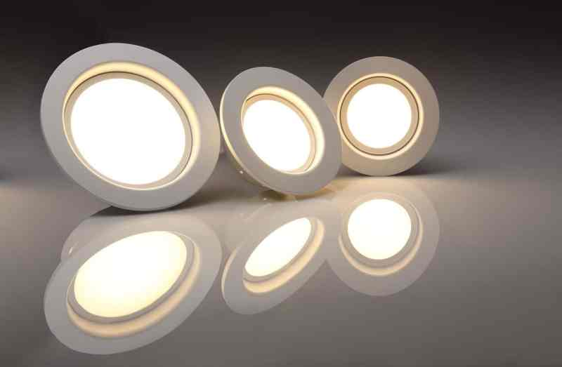 A set of LED pod lights ready for installation