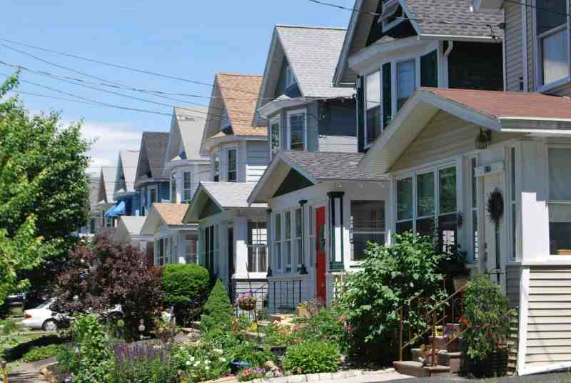 a row of homes in vancouver