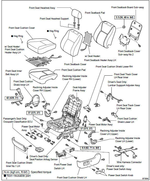 2001 Toyota Camry Power Seat Diagram. Toyota. Auto Parts