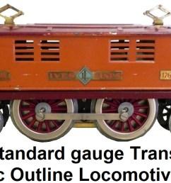 lionel ives standard gauge transition 1764e locomotive circa 1932  [ 1409 x 600 Pixel ]