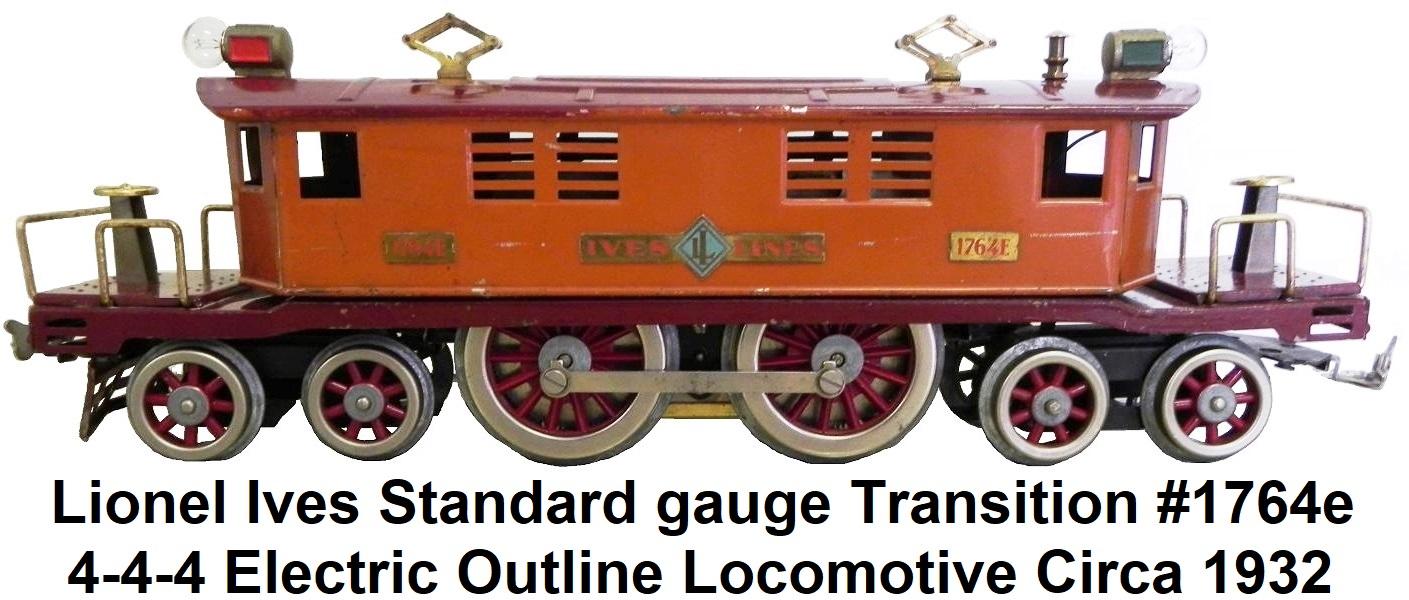 hight resolution of  lionel ives standard gauge transition 1764e locomotive circa 1932