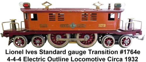 small resolution of  lionel ives standard gauge transition 1764e locomotive circa 1932