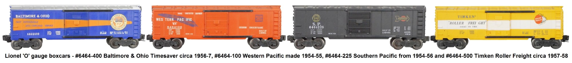 hight resolution of lionel 6464 series box cars from the post war era